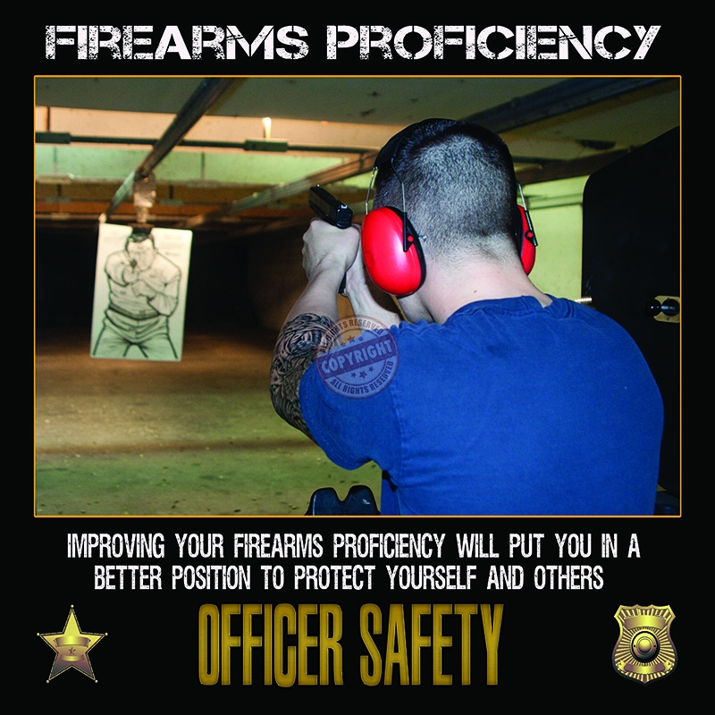police officer firearms training poster