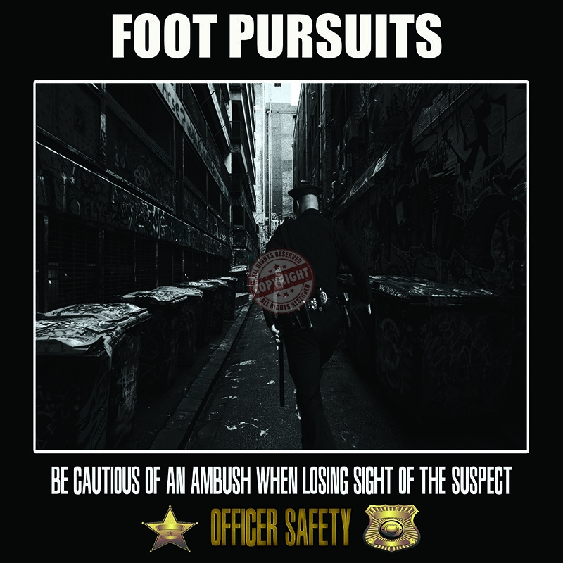 police foot pursuit safety poster