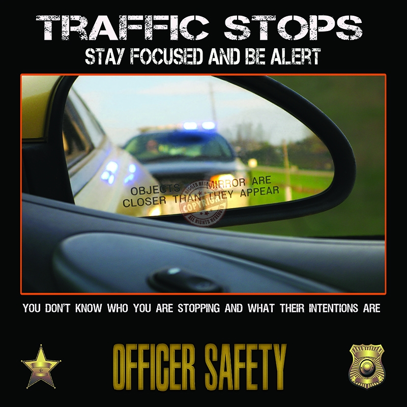 police traffic stop safety poster