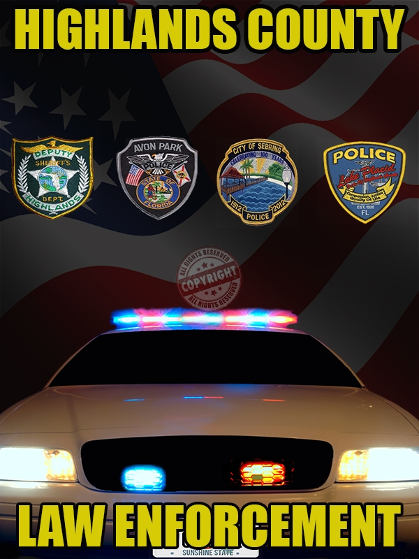 Highlands County Florida Law Enforcement Poster