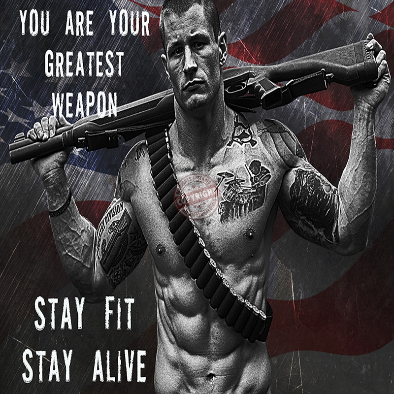 police stay fit poster