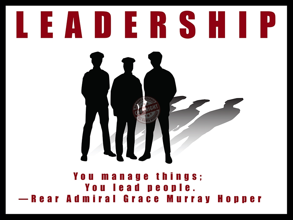 "Police Motivation Poster ""Leadership"" 