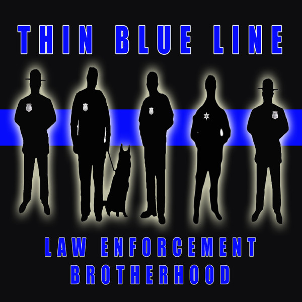 thin blue line poster