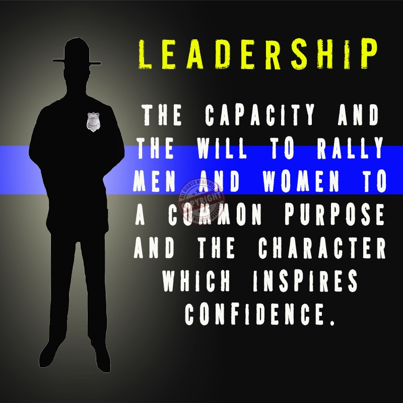 police leadership Leadership is defined as someone who provides guidance or direction to a group the importance of leadership facilitates the basic functions of those who are meant to.