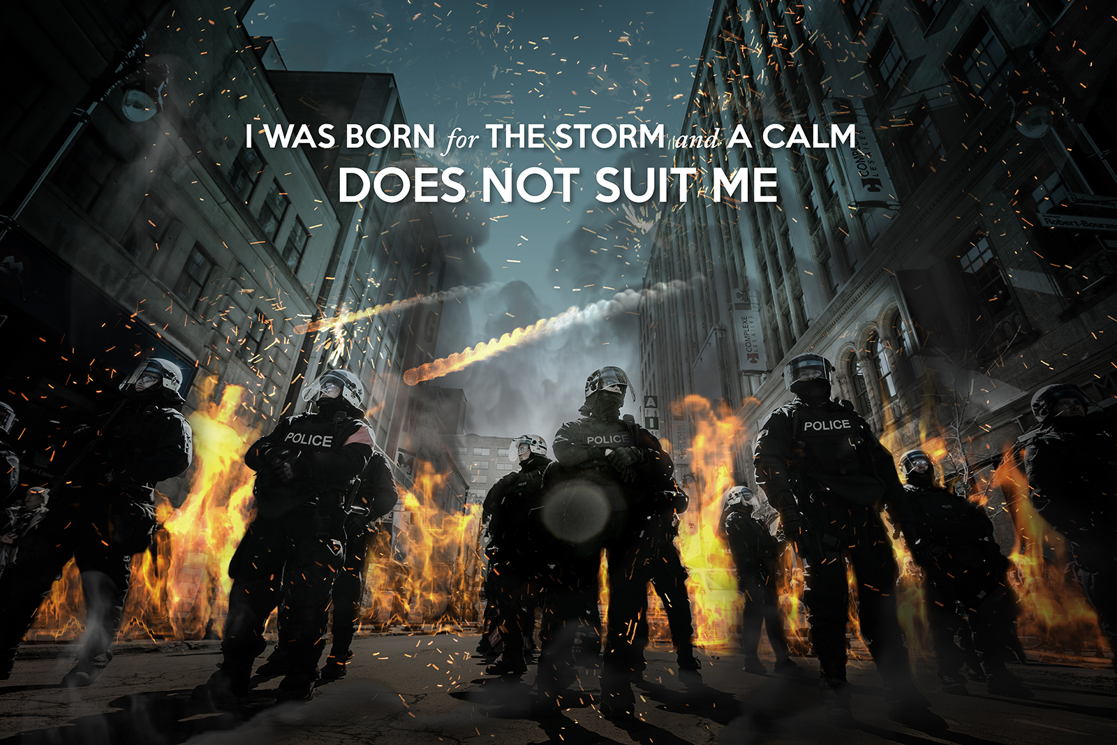 Police Riot Squad Motivation Poster
